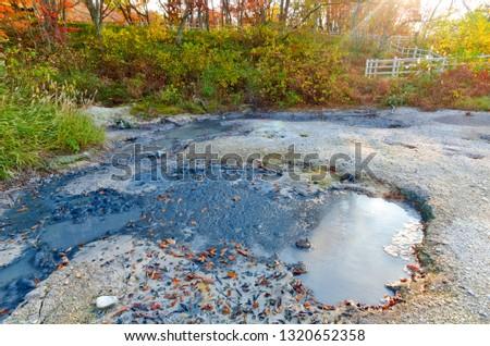 Bokke mud pools at