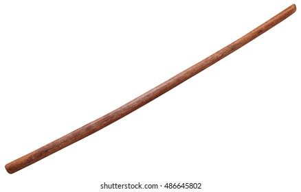 Bokken - Japanese wooden sword used for training in martial arts aikido, kendo, iaido and kenjutsu, isolated on white background