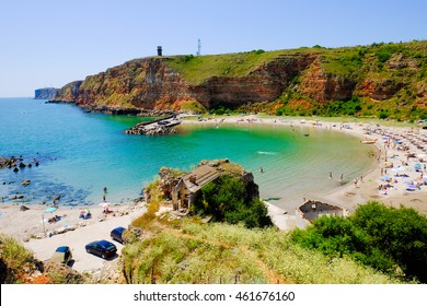 Bolata beach Bulgaria. Famous bay near Cape Kaliakra