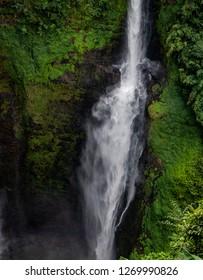 bolaven plateau, laos - 11 23, 2018: tad fane waterfall