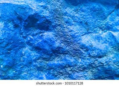 Bold Blue Textured Rock