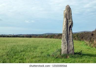 Boleigh Piper Standing Stone, Cornwall UK