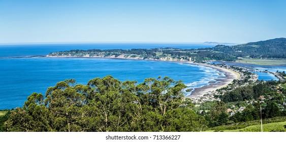 bolinas lagoon on pacific coast california