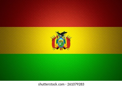 Bolivia flag or Bolivian banner on abstract texture