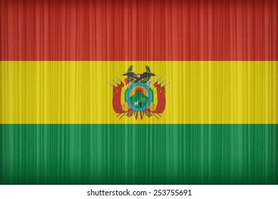 Bolivia flag pattern on the fabric curtain,vintage style