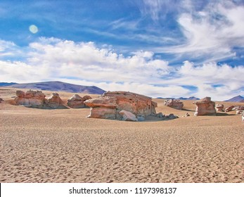 Bolivia, Salar de Uyuni, Arbol De Piedra scenic views and landscapes