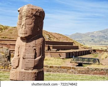 Bolivia - Tiwanaku ruins.