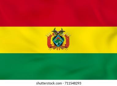 Bolivia waving flag. Raster copy.