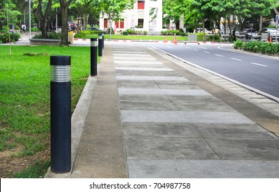 Bollards lighting, illuminate and accent landscaping, walkways, parking areas. improvement of security by increasing visibility and pathways driveways.