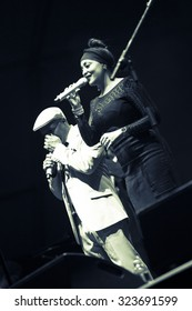 """Bollate (Italy) 07/14/2015 - Concert of the legendary group """"Buena Vista Social Club"""" in his latest world tour called """"Adios tour"""", the Festival of Villa Arconati."""