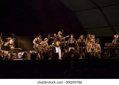 Bollate (Italy) 13/07/2013 - Concert of the Italian singer-songwriter Francesco De Gregori at the Festival of Villa Arconati.