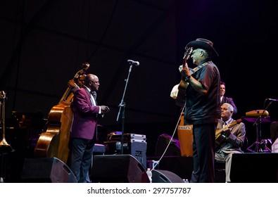 """Bollate (Italy) 16/07/2013 - Concert """"Orquestra Buena Vista Social Club"""" in at the Festival of Villa Arconati."""