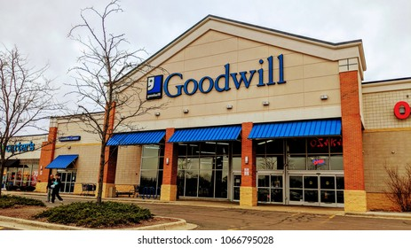 Bollingbrook, IL - April 11, 2018: Goodwill store location in the Chicago suburbs.