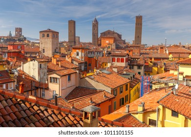 Bologna. Aerial view of the city.