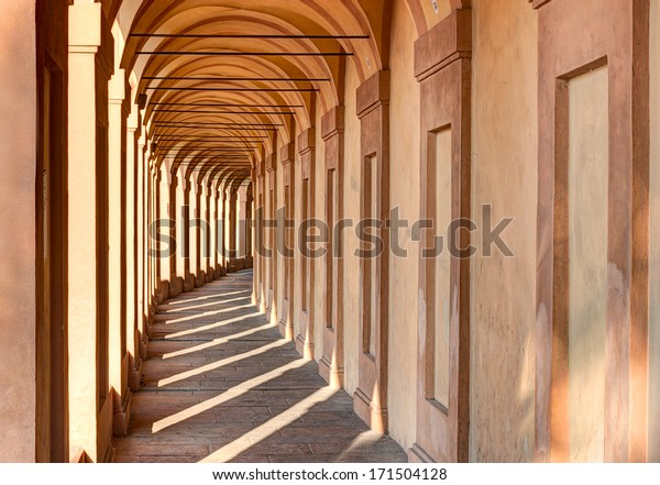 Bologna, Emilia Romagna, Italy: Portico di San Luca, the porch that connects the Sanctuary of the Madonna di San Luca to the city, a long (3.5 km) monumental roofed arcade consisting of 666 arches