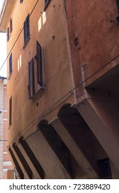 Bologna (Emilia Romagna, Italy): a typical old street with portico