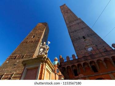 Bologna. The falling towers.