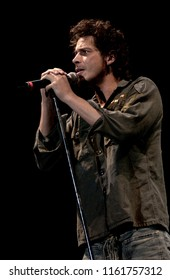 "Bologna Italy, from 01-02 June 2003, Music Festival  live concerts ""Flippaut Festival"" at the Arena Parco Nord of Bologna: The singer of Audioslave,Chris Cornell , during the concert"