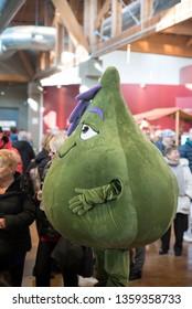 Bologna - Italy 11/16/2018 Eataly/Fico: The artichoke mascot of Fico/Eataly