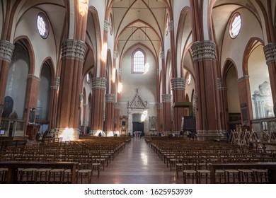 Bologna, Italy - 21 January 202: Basilica di San Petronio