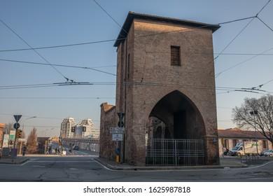 Bologna, Italy - 21 January 2020:L Porta Mascarella
