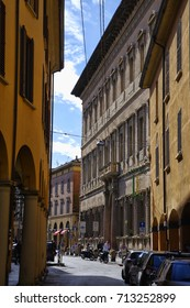 Bologna, Italy - April, 17, 2017: Streets in center of Bologna on April 17, 2017, Italy