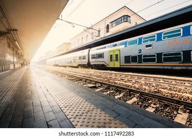 BOLOGNA, ITALY - CIRCA APRIL, 2018: Bologna Railway Station at sunshine.
