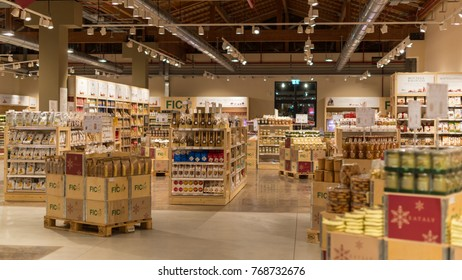 BOLOGNA, ITALY - CIRCA DECEMBER, 2017: Fico Eataly World, located in Bologna, is the largest agrofood park in the world. Internal view.