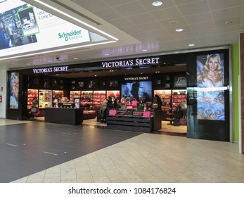 BOLOGNA, ITALY - CIRCA NOVEMBER 2014: Victoria's Secret store at the airport