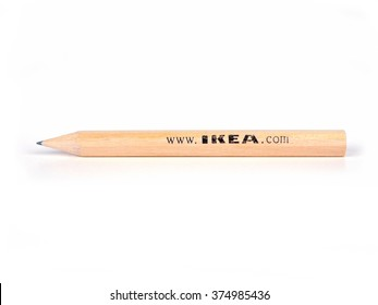 Bologna, Italy - February 8, 2016: Pencil Ikea. Classic Ikea pencil available in each store Ikea worldwide.