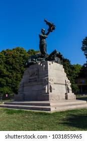 BOLOGNA, ITALY - JULY 22, 2017: Mercatino Via Irmerio (Parco della Montagnola) - Emilia Romagna
