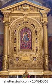 BOLOGNA, ITALY - MARCH 16, 2014: Altar of chapel Cappella della Compagnia della Consolazione from 17. cent. in church San Giacomo Maggiore.