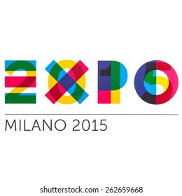BOLOGNA, ITALY - MARCH 22, 2015: Milan Expo logo sign. As seen printed on advertisement display.