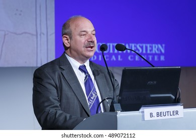 BOLOGNA, ITALY. MAY 20. The Nobel Prize Bruce Beutler during a public speech on May 20, 2016 in Bologna, Italy.