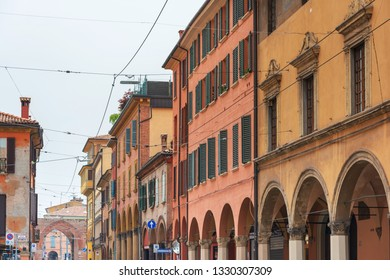BOLOGNA, ITALY - May 27, 2018: Street view of downtown Bologna, Italy