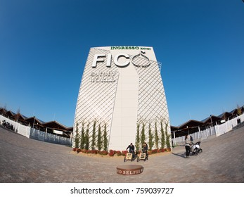 Bologna, Italy - November 18, 2017: Fico Eataly World, is the largest agrofood park in the world. Is located in Bologna and spreads over a surface of 10 hectares.