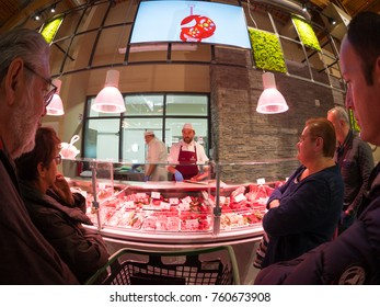 Bologna, Italy - November 18, 2017: Fico Eataly World,is the largest agrofood park in the world. It is located in Bologna. Internal view.