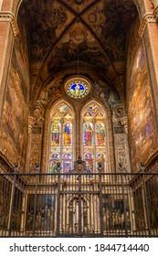 Bologna, Italy - October 01, 2020: The Basilica San Petronio in Bologna.