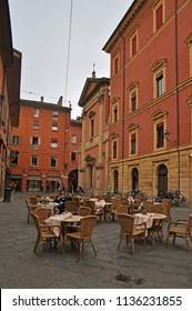 BOLOGNA, ITALY – OCTOBER 11, 2016: drinking coffee in a bar in the Celestines square. The place is part of the medieval city.