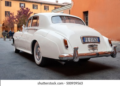 BOLOGNA, ITALY - OCTOBER 15, 2016: Rolls-Royce Phantom V. The Rolls-Royce Phantom V is a large, ultra-exclusive four-door saloon produced by Rolls-Royce Limited from 1959 to 1968.