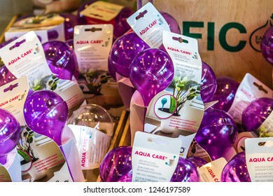BOLOGNA, ITALY - OCTOBER 2, 2018: lights are enlightening watering bottle at FICO EATALY WORLD, the largest agri-food park in the world