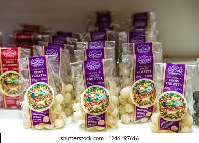 BOLOGNA, ITALY - OCTOBER 2, 2018: lights are enlightening drops at FICO EATALY WORLD, the largest agri-food park in the world