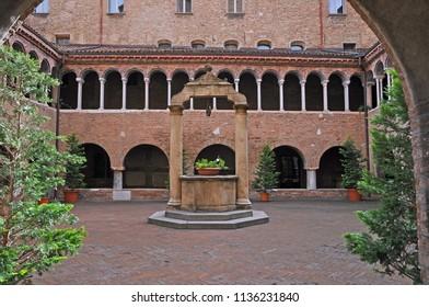 Bologna, Italy, Saint Stephen  basilica complex cloister.