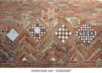 Bologna, Italy, Saint Stephen  basilica complex Pilate's Backyard internal typical wall.