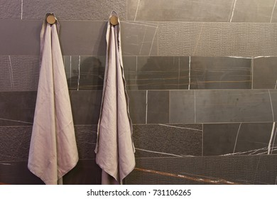 BOLOGNA, ITALY - SEP 27, 2017: Products displayed during Cersaie 2017, international Exhibition of Ceramic Tile and Bathroom Furnishings