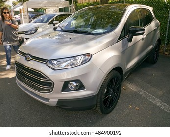 Bologna, Italy -September 17 2016: Ford EcoSport Smart Utility Vehicle. Ford EcoSport Titanium S.