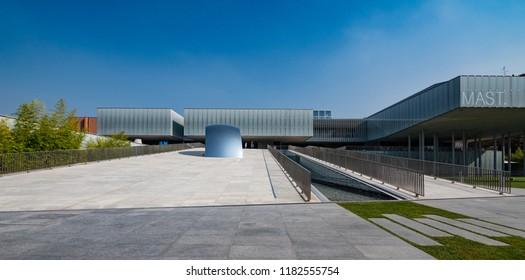 BOLOGNA, ITALY - SEPTEMBER, 2018: Mast museum. MAST stands for MANIFATTURA di ARTI, SPERIMENTAZIONE e TECNOLOGIA (ARTS, EXPERIENCE and TECHNOLOGY). It's a multipurpose center and exhibition space.