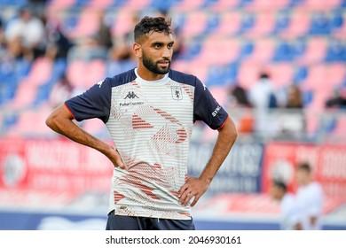 Bologna, Italy, September 21, 2021, Mohamed Fares  (Genoa) during Italian football Serie A match Bologna FC vs Genoa CFC