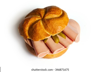 Bologna Roll - a traditional Austrian snack called Wurstsemmel