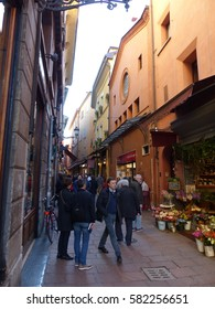 Bologna / Bologna streets / picture showing the quaint architecture of Bologna, taken in April 2015